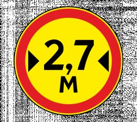 Дорожный знак 3.14 Ограничение ширины (Временный) - Фото 1