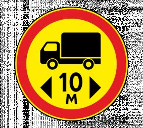 Дорожный знак 3.15 Ограничение длины (Временный) - Фото 1