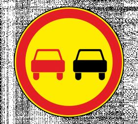 Дорожный знак 3.20 Обгон запрещен (Временный) - Фото 1