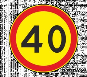 Дорожный знак 3.24 Ограничение максимальной скорости (Временный) - Фото 1