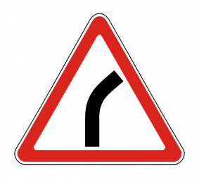 Дорожный знак 1.11.1 Опасный поворот - Фото 1