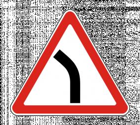 Дорожный знак 1.11.2 Опасный поворот - Фото 1