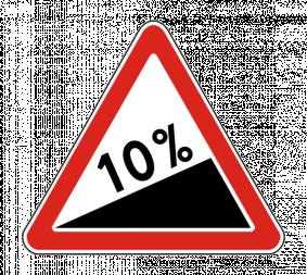 Дорожный знак 1.14 Крутой подъем - Фото 1