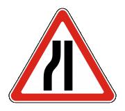 Дорожный знак 1.20.3 Сужение дороги - Фото 1