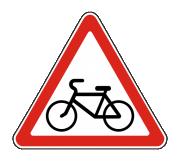 Дорожный знак 1.24 Пересечение с велосипедной дорожкой - Фото 1