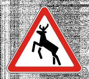 Дорожный знак 1.27 Дикие животные - Фото 1