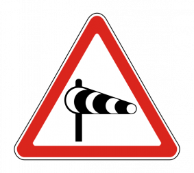 Дорожный знак 1.29 Боковой ветер - Фото 1