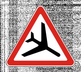 Дорожный знак 1.30 Низколетящие самолеты - Фото 1