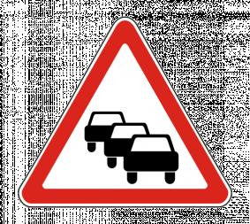 Дорожный знак 1.32 Затор - Фото 1