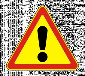 Дорожный знак 1.33 Прочие опасности (Временный) - Фото 1