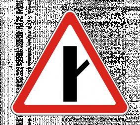 Дорожный знак 2.3.4 Примыкание второстепенной дороги - Фото 1
