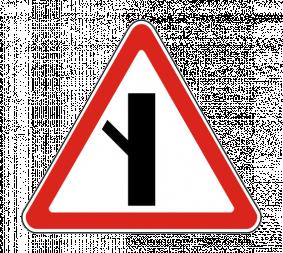 Дорожный знак 2.3.6 Примыкание второстепенной дороги - Фото 1