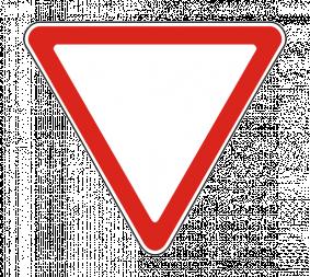 Дорожный знак 2.4 Уступите дорогу - Фото 1