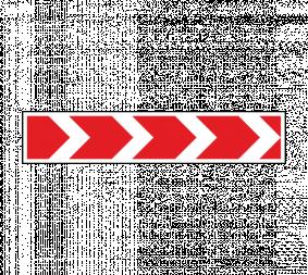Дорожный знак 1.34.1 Направление поворота (большой) - Фото 1