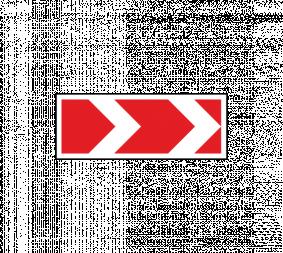 Дорожный знак 1.34.1 Направление поворота (средний) - Фото 1