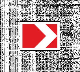 Дорожный знак 1.34.1 Направление поворота (малый) - Фото 1