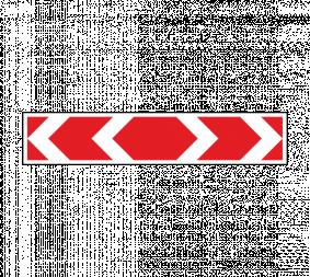 Дорожный знак 1.34.3 Направление поворота (большой) - Фото 1