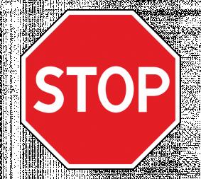 Дорожный знак 2.5 Движение без остановки запрещено - Фото 1
