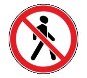 Дорожный знак 3.10 Движение пешеходов запрещено - Фото 1