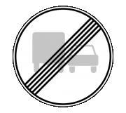 Дорожный знак 3.23 Конец запрещения обгона грузовым автомобилям - Фото 1