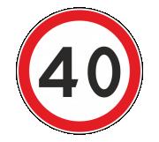 Дорожный знак 3.24 Ограничение максимальной скорости - Фото 1
