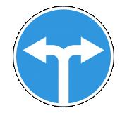 Дорожный знак 4.1.6 Движение направо или налево - Фото 1