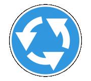 Дорожный знак 4.3 Круговое движение - Фото 1