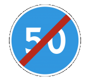 Дорожный знак 4.7 Конец ограничения минимальной скорости - Фото 1
