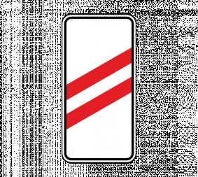 Дорожный знак 1.4.2 Приближение к железнодорожному переезду (правый, 2 полосы) - Фото 1