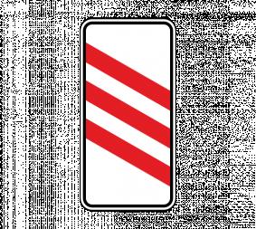 Дорожный знак 1.4.4 Приближение к железнодорожному переезду (левый, 3 полосы) - Фото 1