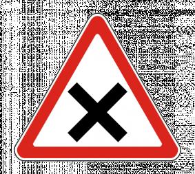 Дорожный знак 1.6 Пересечение равнозначных дорог - Фото 1