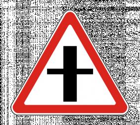 Дорожный знак 2.3.1 Пересечение с второстепенной дорогой - Фото 1