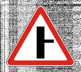 Дорожный знак 2.3.2 Примыкание второстепенной дороги (справа) - Фото 1