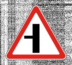 Дорожный знак 2.3.3 Примыкание второстепенной дороги (слева) - Фото 1