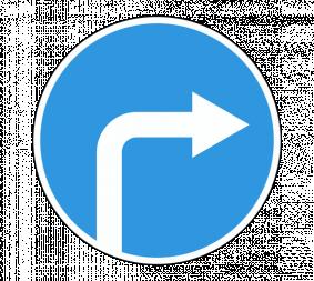 Дорожный знак 4.1.2 Движение направо - Фото 1