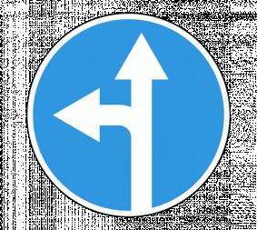 Дорожный знак 4.1.5 Движение прямо или налево - Фото 1