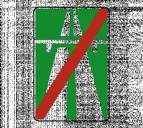 Дорожный знак 5.2 Конец автомагистрали - Фото 1
