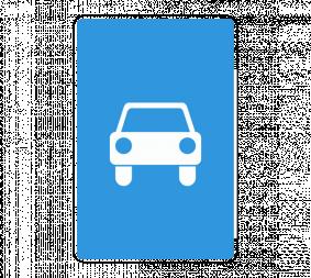 Дорожный знак 5.3 Дорога для автомобилей - Фото 1