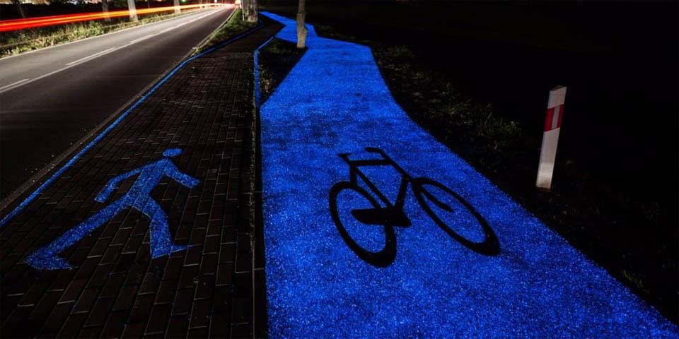 Светящаяся велодорожка в Эйндховене