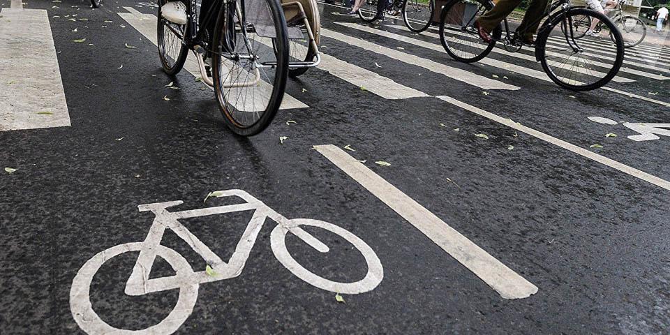 Совмещенная велосипедная дорожка