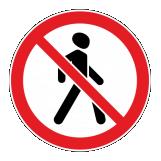 Знак запрета для передвижений пешеходов